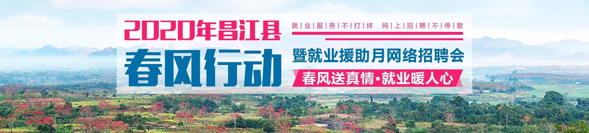"""2020年昌江县""""春风行动暨就业援助月""""网络招聘会——春风送真情,就业暖人心"""
